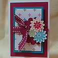 SCALLOP FLOWERS CARD