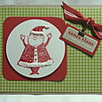 SANTA IS COMING TO TOWN CARD