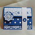 Brilliant Blue Accordian Fold Card