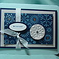 DISTRESSED SNOWFLAKES CARD