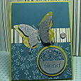 FRIEND BUTTERFLY CARD