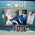 COOL DUO SCRAPBOOK PAGE