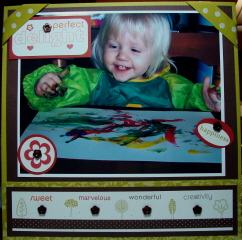 PERFECT DELIGHT SCRAPBOOK PAGE