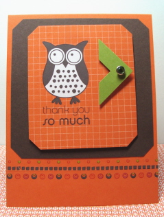 OWL THANK YOU CARD