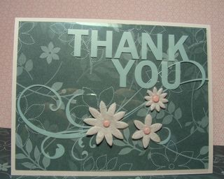 THANK YOU PRINTED WINDOW CARD