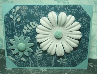 FLOWERS PRINTED WINDOW CARD