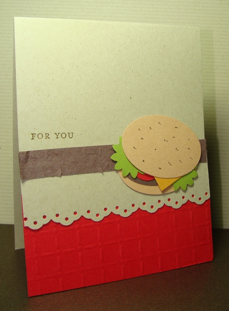 HAMBURGER CARD