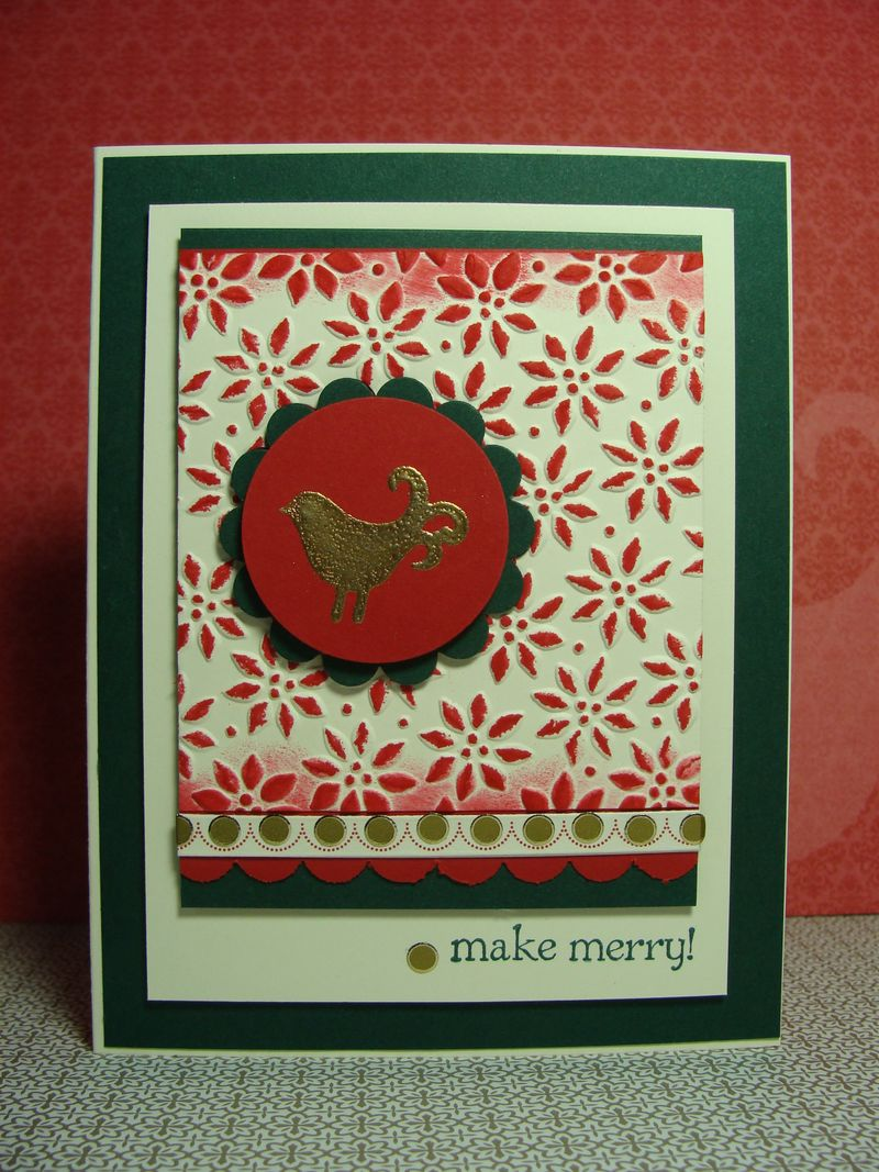 MAKE MERRY BIRD CARD