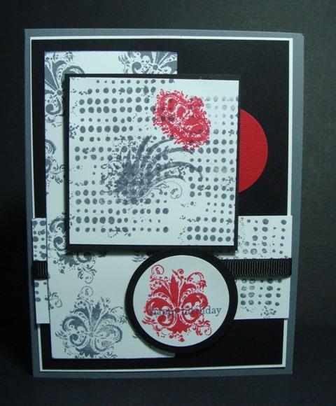 BLACK, RED & WHITE CARD