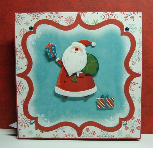 Santa Card Front Closed