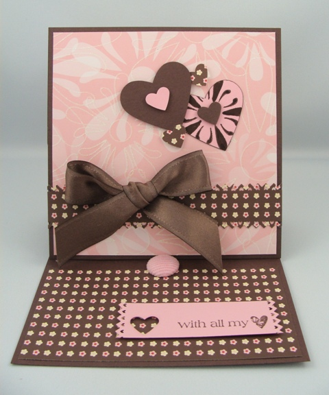 With all my Love Easel Card