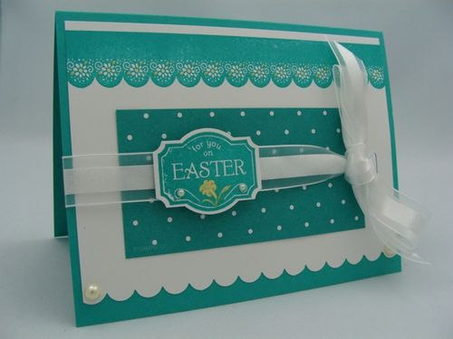 SCALLOPED EASTER CARD