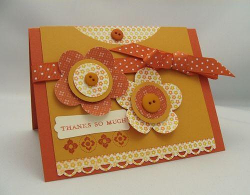 Fancy Flower Thank You Card