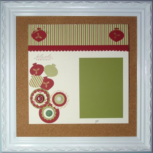 FRAMED HOLLY JOLLY SCRAPBOOK PAGE