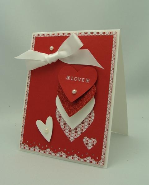 Layered Hearts Card