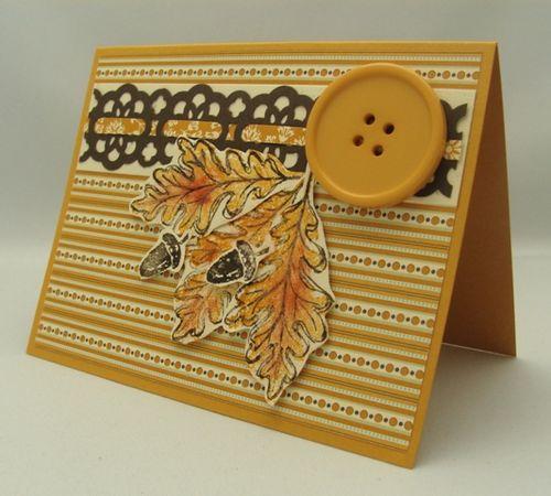 Oak Leaves & Acorns Card