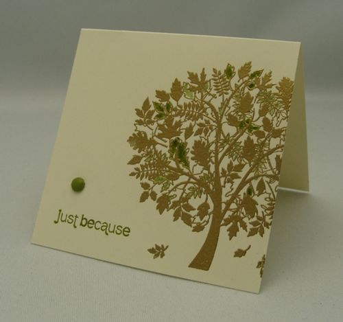 Note Card Leaves of a Tree