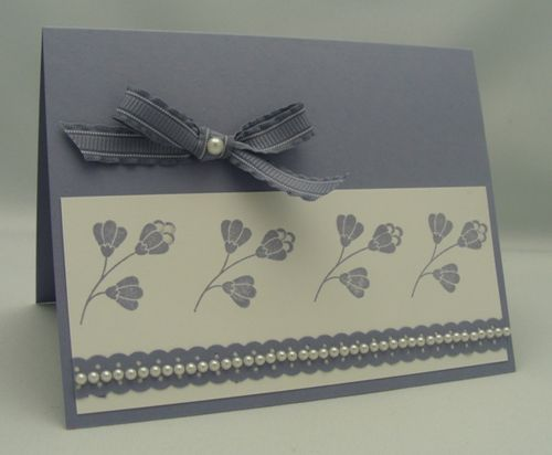 Delicate Flowers & Pearls Card