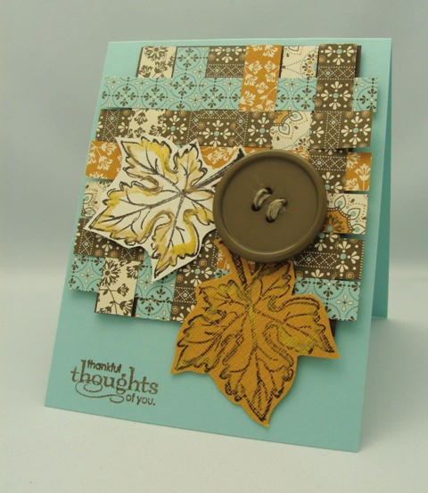 Woven Papers Card