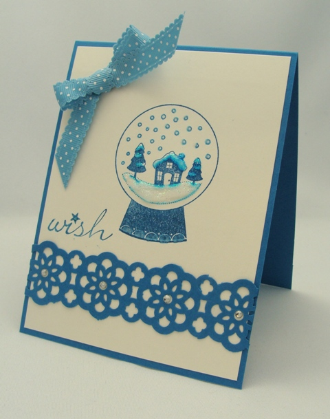 Snow Globe Wish Card