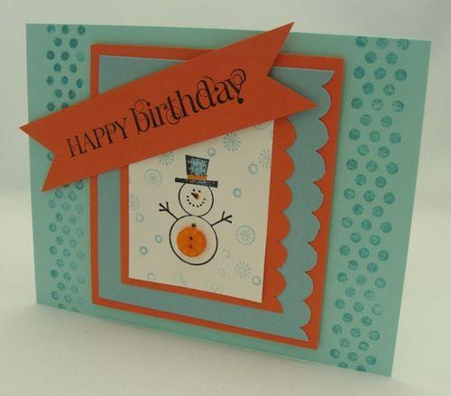 Snowman Birthday