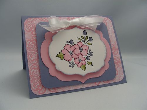 Pink & Wisteria Card