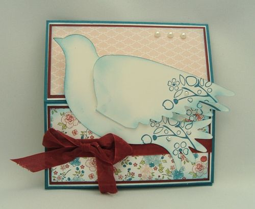 Twitterpated Bird Easel Card