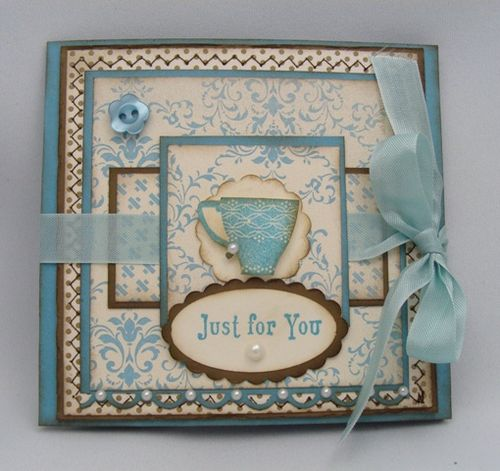 Just For You Tea Bag Card Front