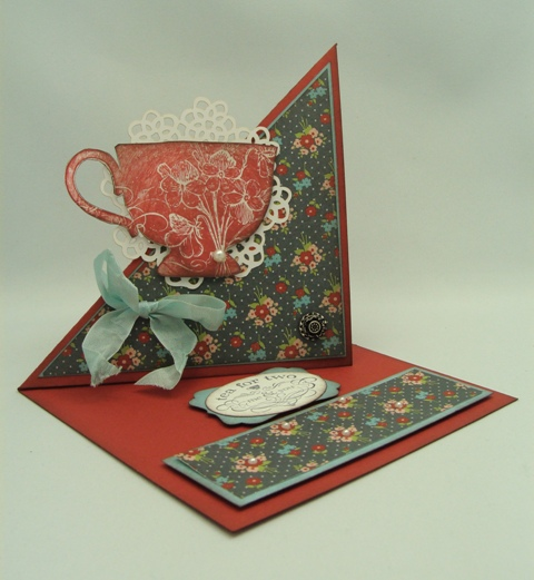 Tea Cup Side Easel Card
