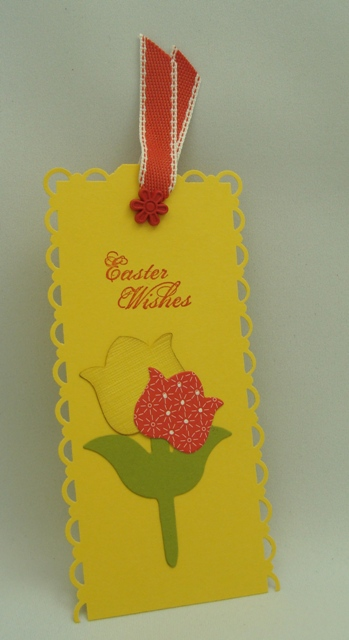 Tulip Card Book Mark