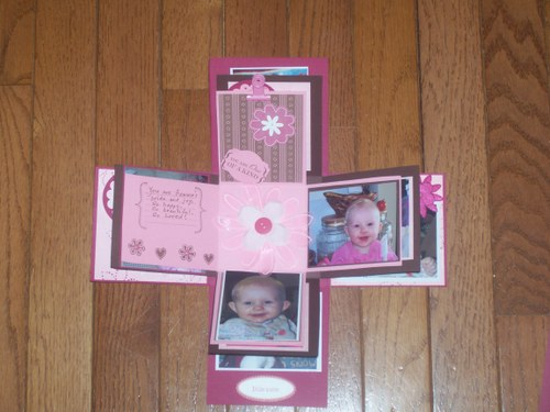 Designer Paper Berry Bliss Exploding Scrapbook In A Box 1