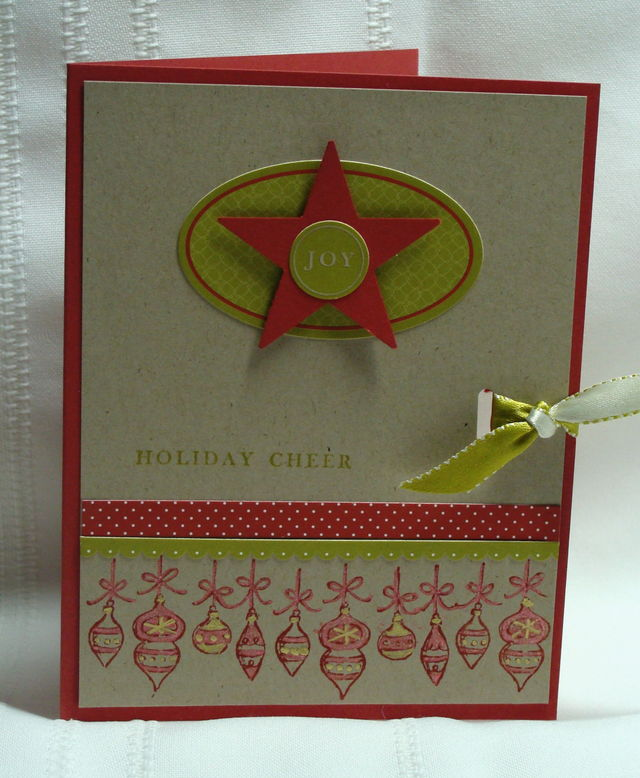 ORNAMENTS STAR CARD